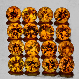 1.70 mm 35 pcs Round Brilliant Machine Cut AAA Golden Yellow Sapphire Natural {Flawless-VVS1}