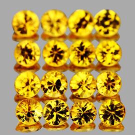 2.20 mm 20 pcs Round Brilliant Machine Cut AAA Golden Yellow Sapphire Natural {Flawless-VVS1)