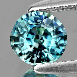 5.50 mm Round AAA Fire Natural Blue Zircon Natural {Flawless-VVS1)