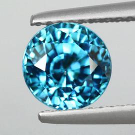 6.00 mm Round Best AAA Fire Top Blue Zircon Natural {Flawless-VVS1}