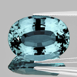 13x9 mm {7.80 cts} Oval Best AAA Fire Platinum Blue Zircon Natural {Flawless-VVS1}