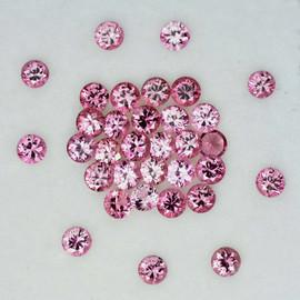 2.00 mm 25 pcs Round Machine Brilliant Cut Best AAA Fire Top Pink Sapphire Natural {Flawless-VVS}