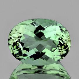 8x6 mm {1.35 cts} Oval Best AAA Fire Mint Green Tourmaline Natural Mozambique {Flawless-VVS}