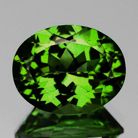 9x7 mm {2.10 cts} Oval AAA Fire Chrome Green Tourmaline Natural Mozambique {Flawless-VVS}