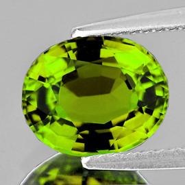 9x7 mm {2.13 cts} Oval AAA Fire Intense Lemon Green Tourmaline Natural Mozambique {Flawless-VVS}--AAA Grade
