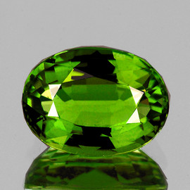 12x9 mm {4.45 cts} Oval AAA Fire Forest Green Tourmaline Natural {Flawless-VVS}