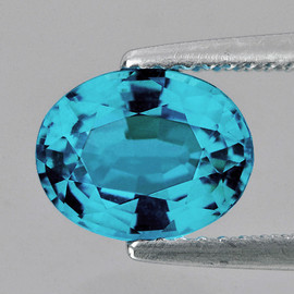 8.5x7 mm {2.33 cts} Oval AAA Fire AAA Blue Zircon Natural {Flawless-VVS1}