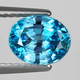 9x7 mm {3.17 cts} Oval AAA Fire Top Blue Zircon Natural {Flawless-VVS1}