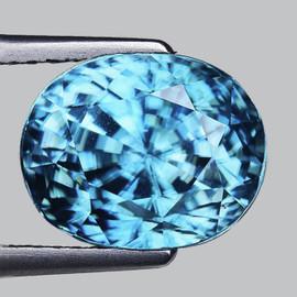 9x7 mm {3.24 cts} Oval AAA Fire Seafoam Blue Zircon Natural {Flawless-VVS1}