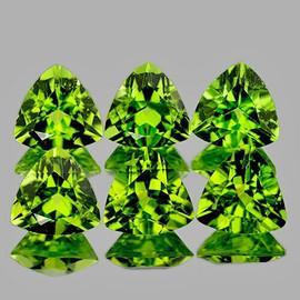 5.00 mm 6 pcs Trilliant AAA Fire Natural Green Peridot {Flawless-VVS1}