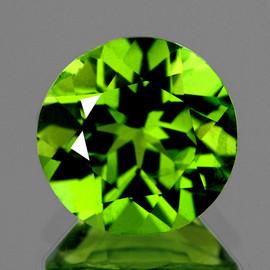 9.00 mm 1 pcs Round AAA Fire AAA Green Peridot Natural {Flawless-VVS}--AAA Grade