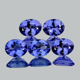 5x4 mm 5 pcs Oval AAA Fire Intense Purple Blue Tanzanite Natural {Flawless-VVS1}