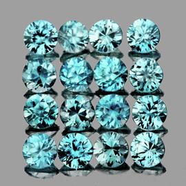 2.00 mm 20 pcs Round Brilliant Cut AAA Fire Blue Zircon Natural {Flawless-VVS}