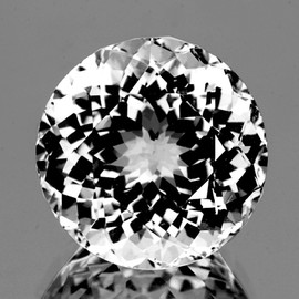 10.00 mm Round Brilliant Cut Best AAA White Topaz Natural {Flawless-VVS1}