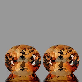 11x9 mm 2 pcs Oval AAA Champagne Imperial Topaz Natural {Flawless-VVS1}