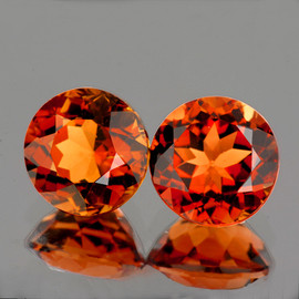 7.00 mm 2 pcs Round Intense AAA Champagne Imperial Topaz Natural {Flawless-VVS1 }