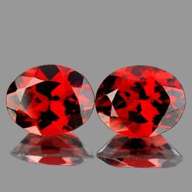 10x8 mm 2 pcs Oval Best AAA Fire AAA Red Mozambique Garnet Natural {Flawless-VVS1}