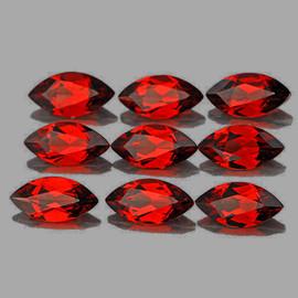 8x4 mm 9 pcs Marquise Cut AAA Fire AAA Red Mozambique Garnet Natural {Flawless-VVS1}