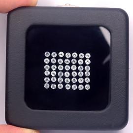 1.20 mm 100 pcs Round Brilliant Machine Cut  AAA Diamond White Topaz Natural {Flawless-VVS1}