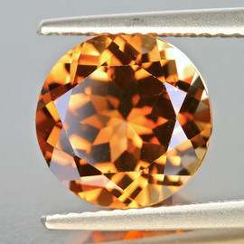 7.00 mm Round AAA Champagne Imperial Topaz Natural {Flawless-VVS1}