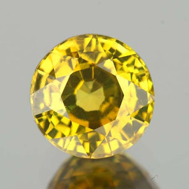 6.00 mm {1.03 cts} Round AAA Fire AAA Yellow Mali Garnet Natural {Flawless-VVS}