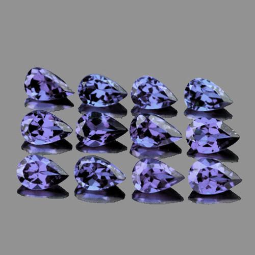 5x3 mm 12 pcs Pear Top Bluish Violet Iolite Natural {Flawless-VVS1}