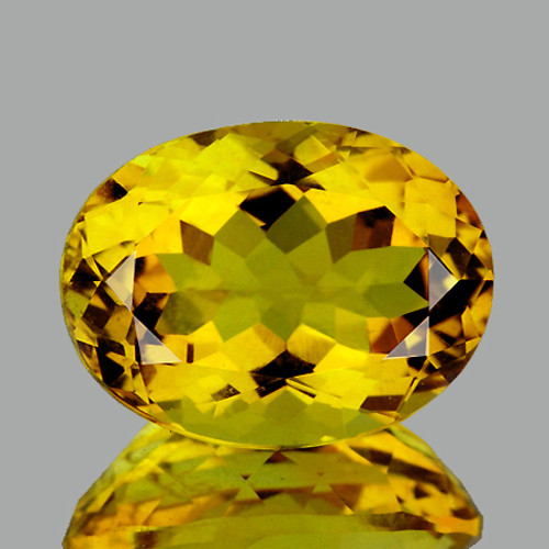 11x8 mm {2.68 cts} Oval Intense AAA Yellow Beryl 'Heliodor' Natural {Flawless-VVS1}
