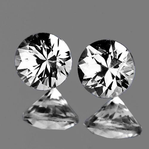 2.10 mm 2 pcs Round Color D-F White Diamond Natural {VVS} AAA Grade