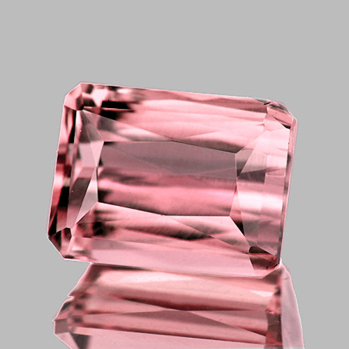8.5x6.5 mm {2.39 cts} Rectangle Best AAA Luster AAA Peach Pink Tourmaline Natural (Flawless-VVS)--AAA Grade