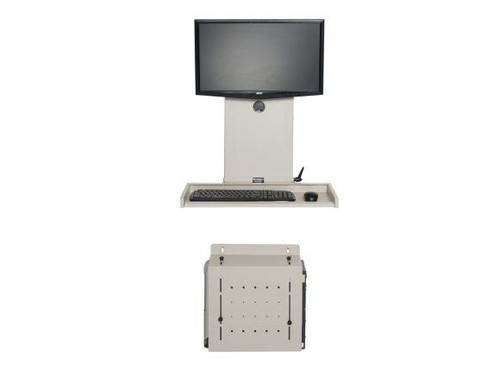 Ultra Flat Wall Mount Computer Station