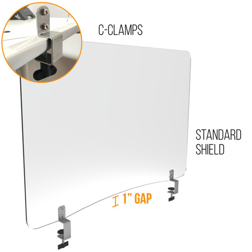 Sneeze Guard | Personal Protection Shield with C-Clamp