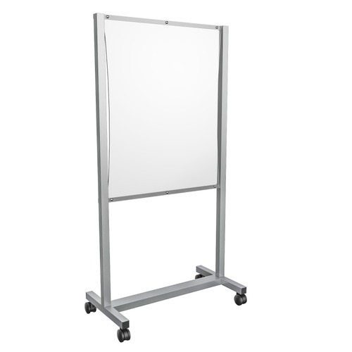 "Mobile Sneeze Guard Cart- 36""W x 72""H"