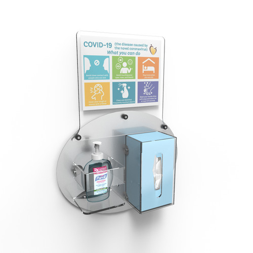 Signature Hygiene Station - Wall Mount 2 Compartment