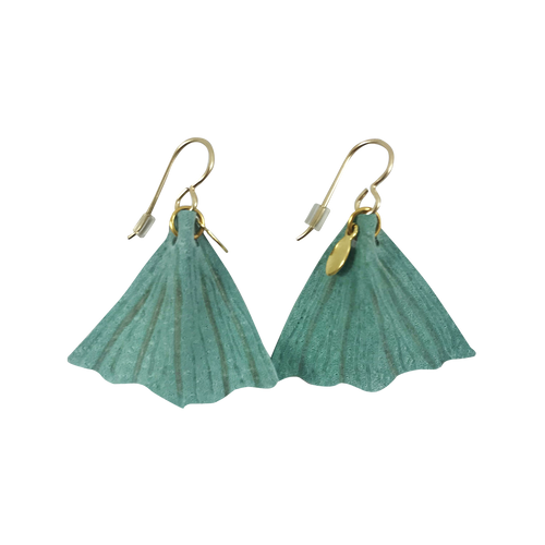 Mint Green Fishtail Earrings