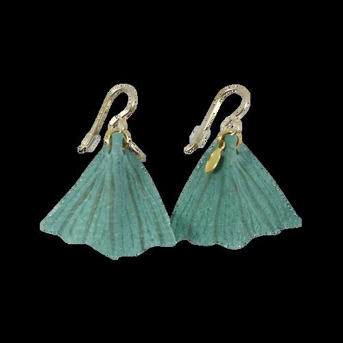 Mint Green Fishtail Earrings