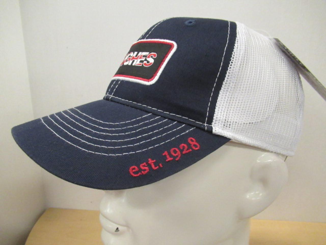 4e915e09 2019 Hughes Navy & White Mesh Low Profile Flag Patch Hat - HAJOCA ...