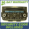2005 2006 ACURA MDX Radio Stereo 6 Disc Changer CD Player DVD entertainment controls W/ CODE 1AF0 1AF2 39100-S3V-A620 , 39100-S3V-A630 , 39100-S3V-A640
