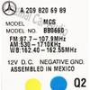 2005 2006 2007 2008 2009 Mercedes-Benz CLK Class OEM Comand Navigation Radio CD Player Display 209 Type