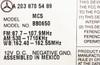 2005 - 2009 Mercedes-Benz CLK Class OEM Command Non-Navigation Radio CD Player Display 203 Type