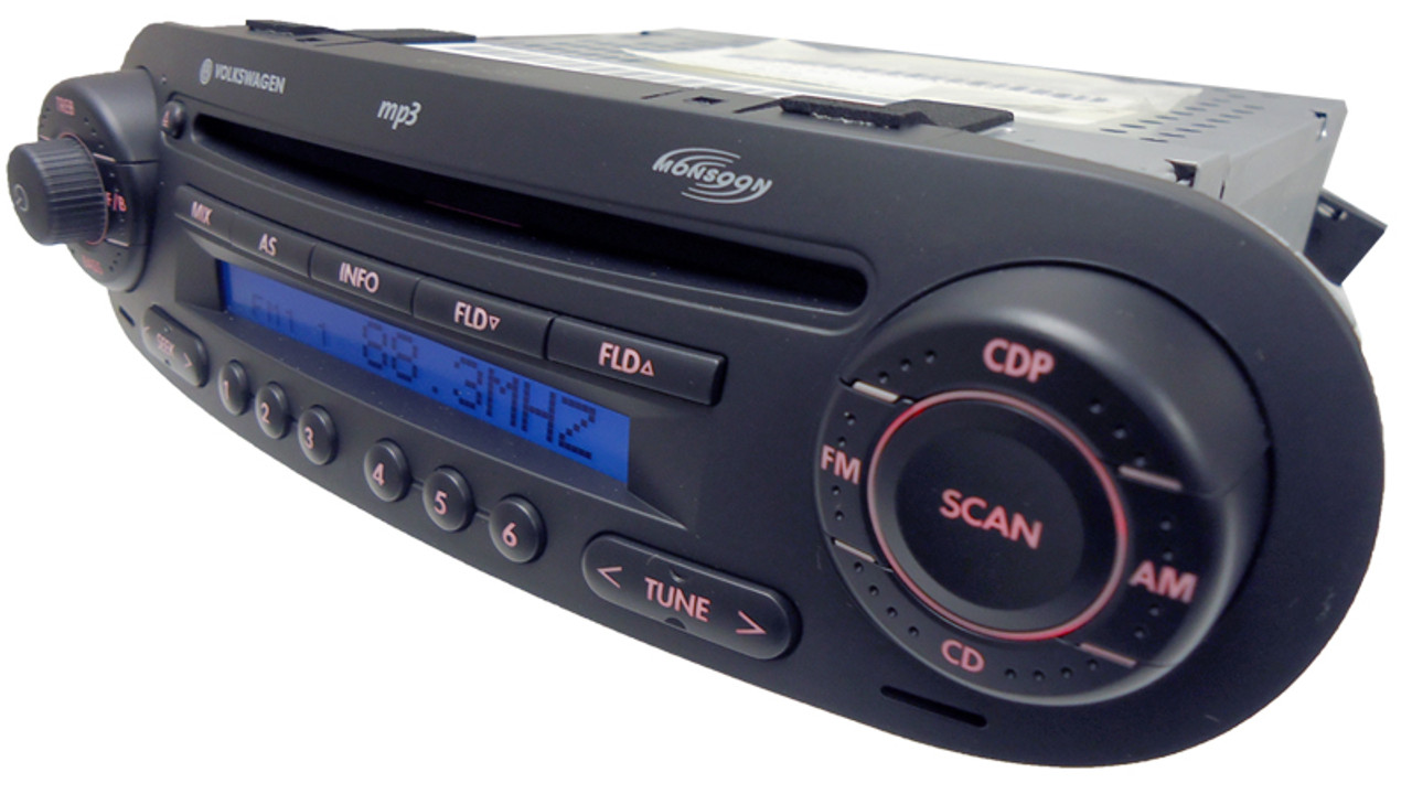98 01 05 10 Volkswagen Beetle Fm Radio Stereo Cd Mp3 Player