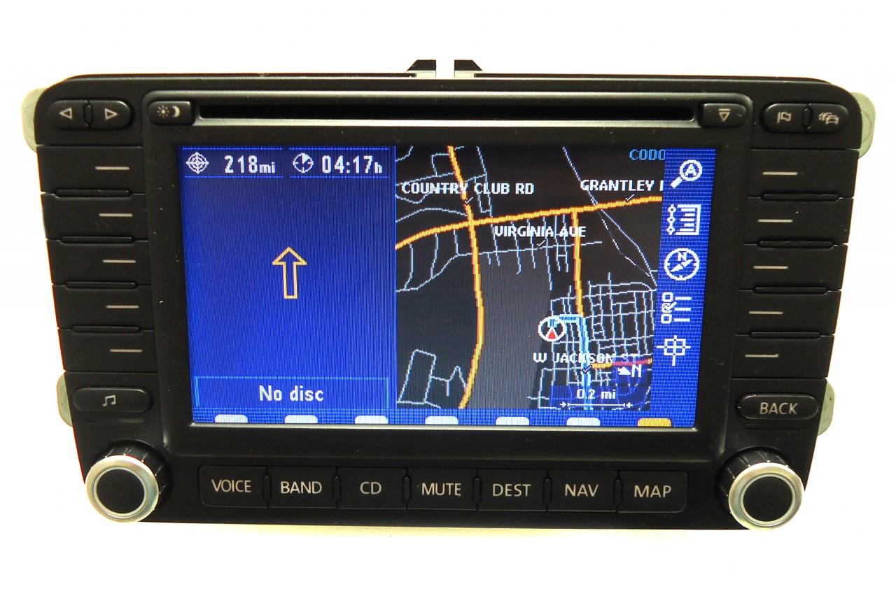 VW Volkswagen Jetta Passat Rabbit Golf GTI EOS Tiguan Navigation System GPS  Radio Stereo DVD LCD Display Screen 1K0035197B 2005 2006 2007 2008 2009