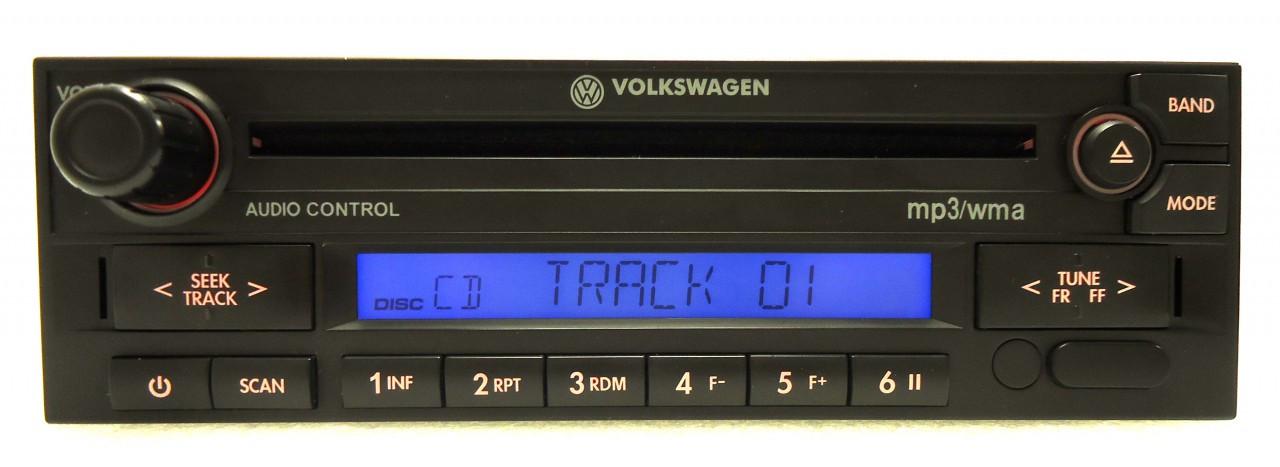 VW Volkswagen Jetta Passat Golf GTI Eurovan Cabrio City Radio Stereo MP3  WMA CD Player 1998 1999 2000 2001 2002 2008 2009 2010 2011 1JM035157AG