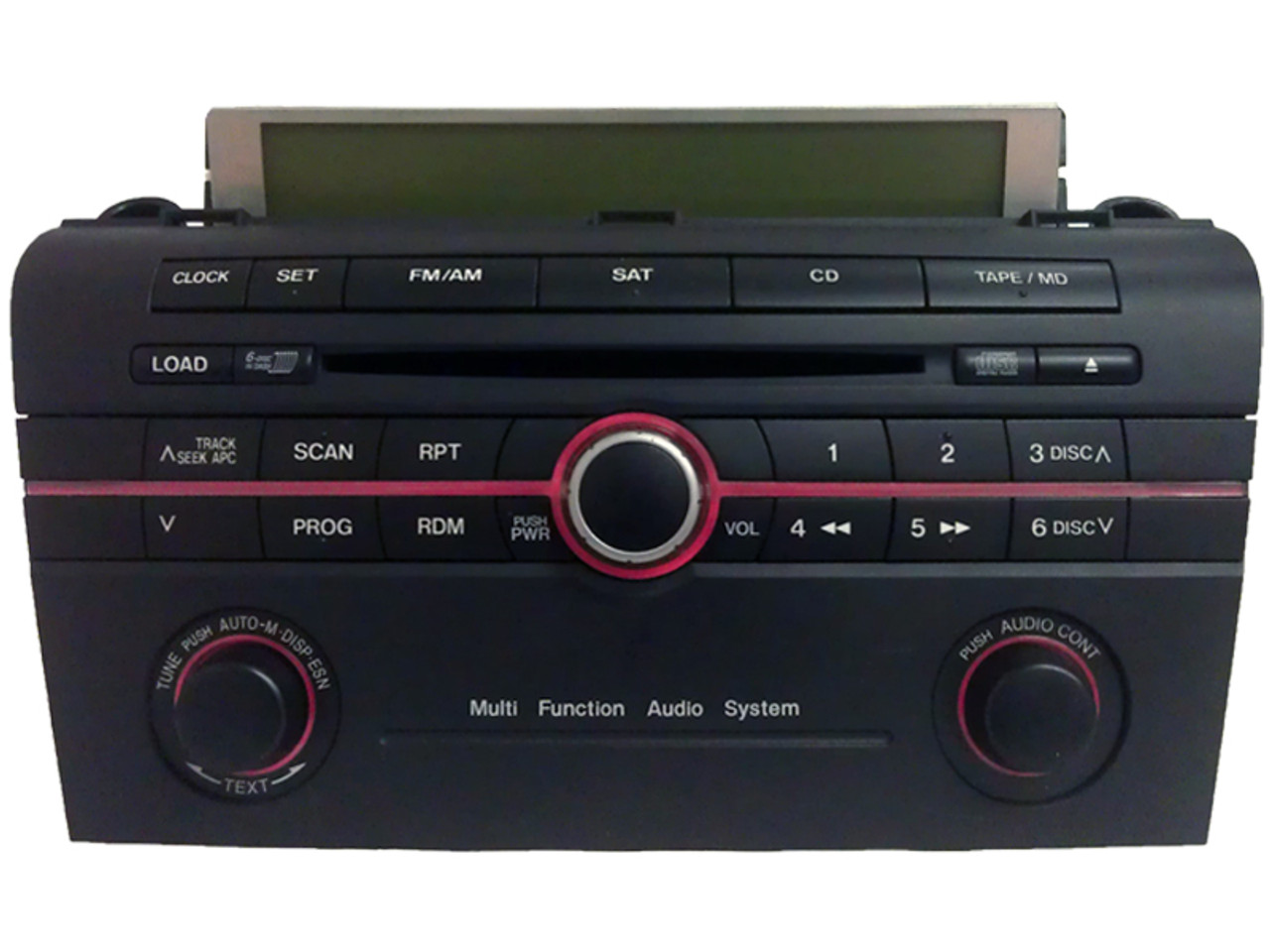 MAZDA 3 Radio Stereo 6 Disc Changer CD Player w/ Trip Display Black Sat  2005 2006 2007 2008 05 06 07 08