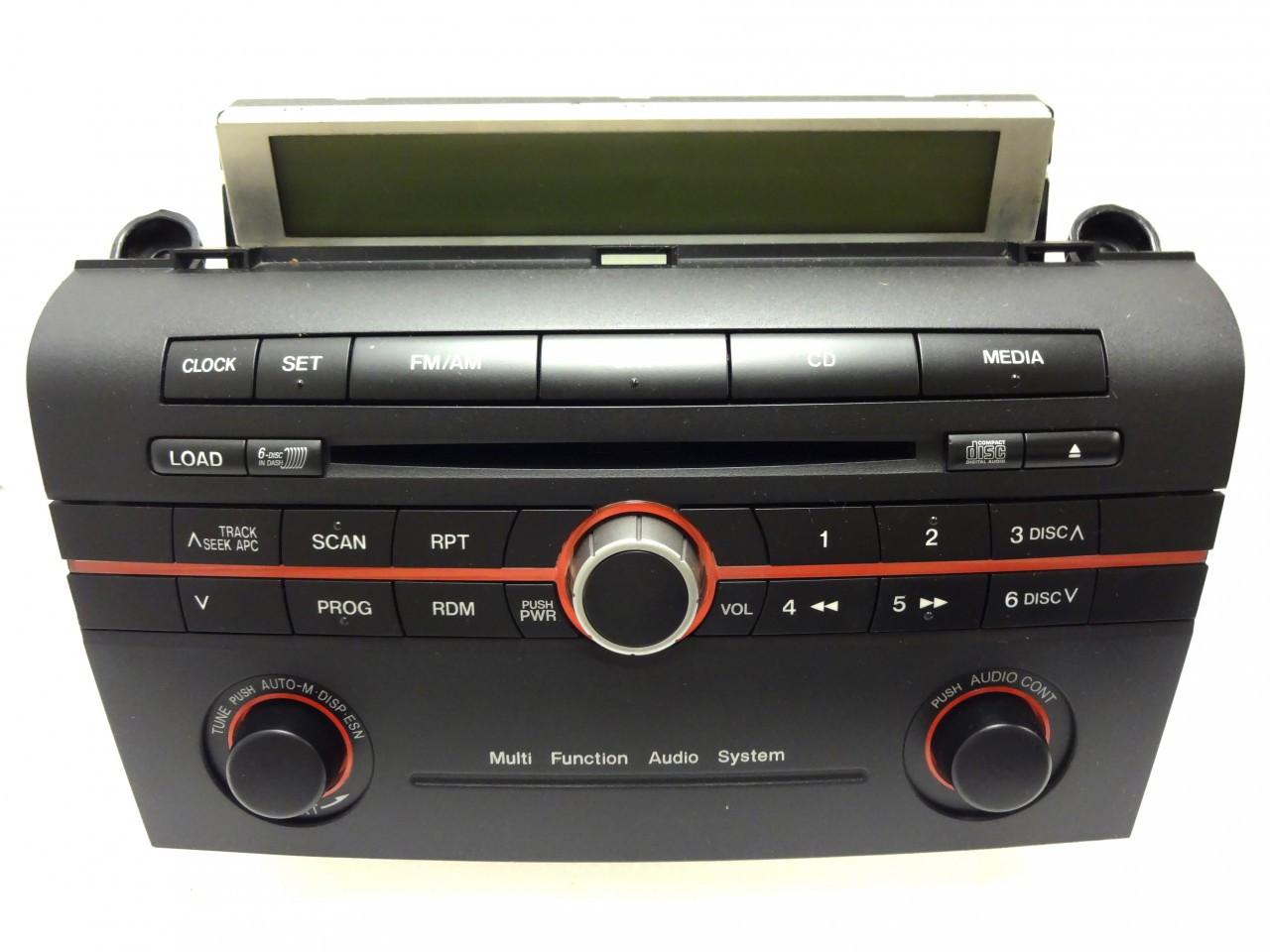 Mazda 3 Radio Stereo 6 Disc Changer Cd Player W   Trip