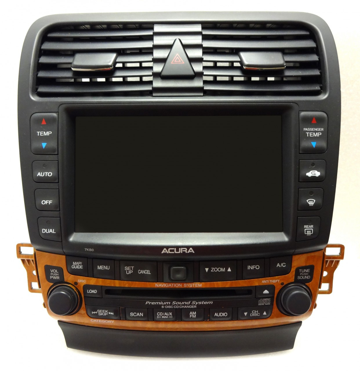 7KB0 05 06 07 08 GPS XM Satellite Radio Stereo 6 CD Changer
