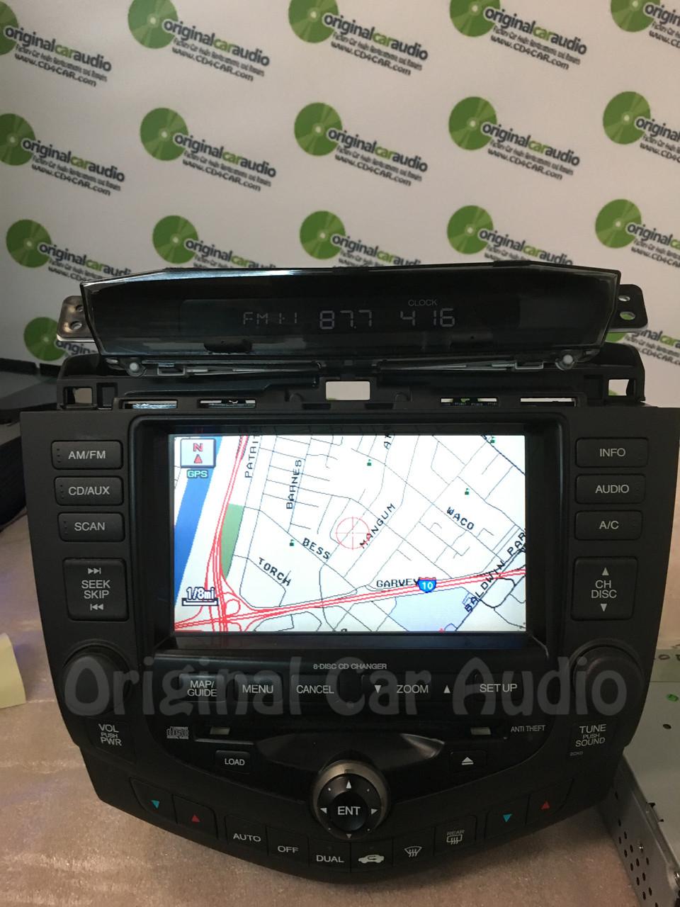 2004 2005 2006 2007 HONDA Accord Navigation GPS System Screen Radio 6 Disc Changer CD Player