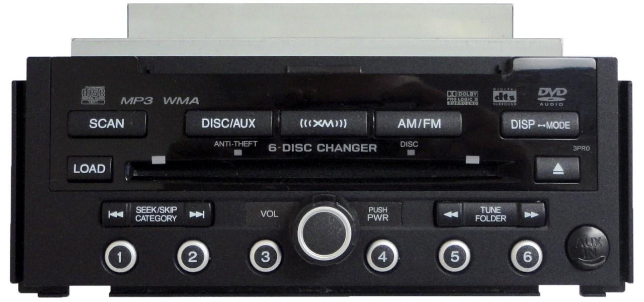 3PR0 08 09 Acura RDX XM Satellite Radio MP3 6 CD Changer
