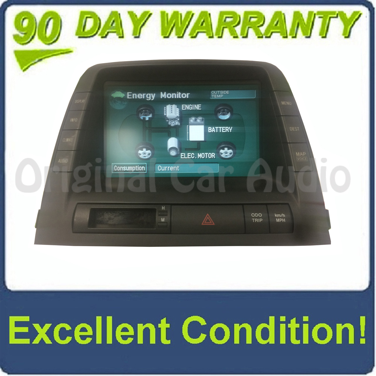 2004-2006 TOYOTA PRIUS NAVIGATION DISPLAY GPS SCREEN MFD 86110-47071 04 05 06
