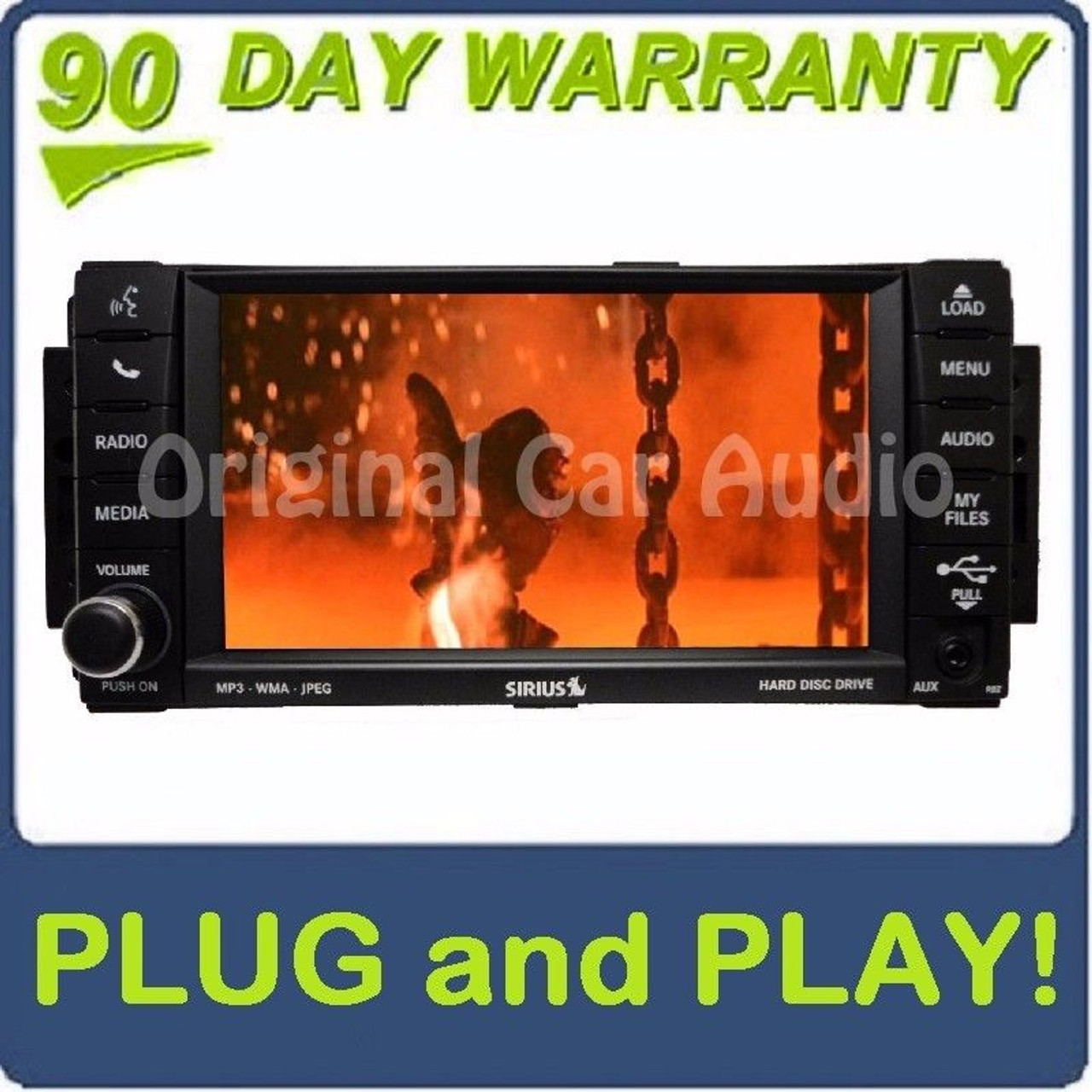 2007 2008 2009 2010 2011 2012 2013 Chrysler Jeep Dodge MyGig RBZ CD DVD  Player MP3 AUX High-Speed
