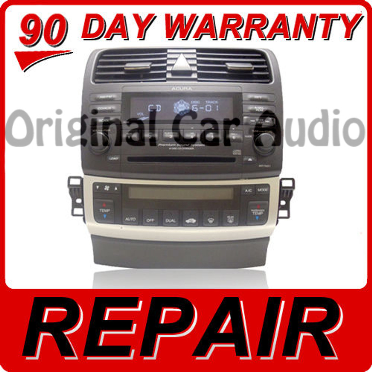 REPAIR YOUR ACURA TSX Radio Stereo Receiver 6 Disc Changer
